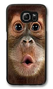 Big Face Baby Orangutan PC Case Cover for Samsung S6 and Samsung Galaxy S6 Black