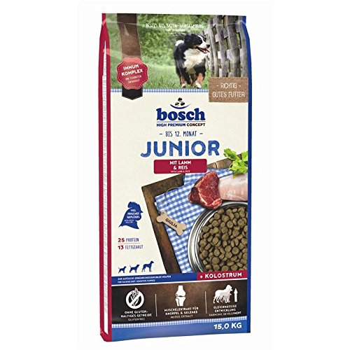 bosch Hundefutter Junior Lamm und Reis, 1er Pack (1 x 15 kg)