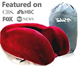 Enzo's Private Selection Cooling Gel Memory Foam Travel Neck Pillow, Red