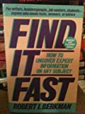 Find It Fast, Berkman, Robert I., 0062731033