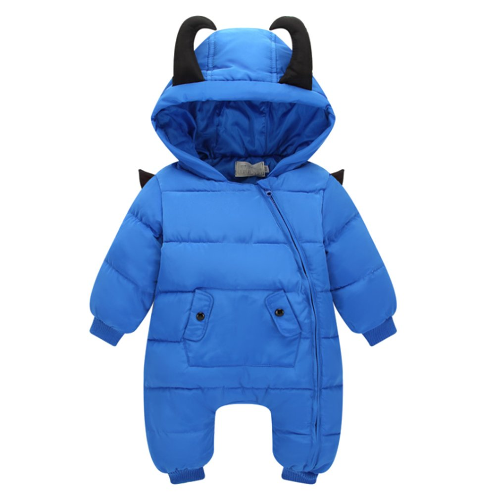 58d126b9a BOZEVON Newborn Baby Girls   Boys Fall Winter Romper Snowsuit Infant ...