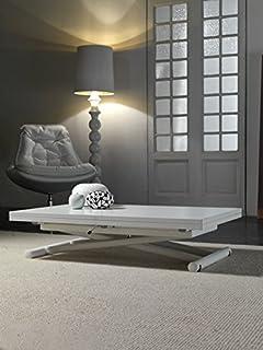 rr design - tavolo saliscendi allungabile vetro tavolo salotto ... - Tavolino Soggiorno Apribile