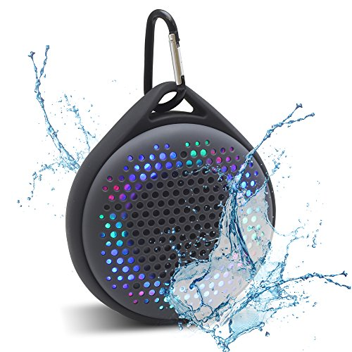 Magnavox Outdoor/Shower Waterproof Speaker with Color Changing Lights and Bluetooth Wireless Technology MMA3623