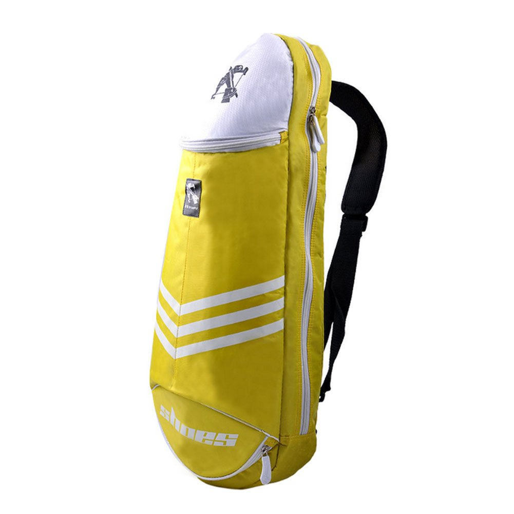 Waterproof Badminton Racket Cover Racquet Bag Sling Bag Backpack Sports - Yellow Blancho Bedding