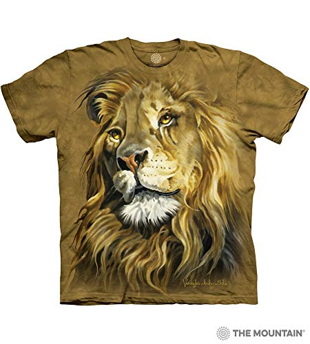 Lion Adult T-shirt - The Mountain Lion King Adult T-Shirt, Brown, 3XL