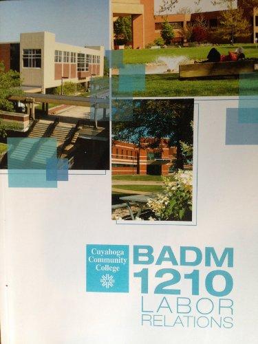 BADM 1210 Labor Relations, Cuyahoga Community College
