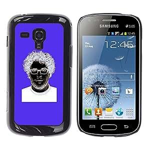 GOODTHINGS Funda Imagen Diseño Carcasa Tapa Trasera Negro Cover Skin Case para Samsung Galaxy S Duos S7562 - azules invertidos vidrios púrpuras blancas