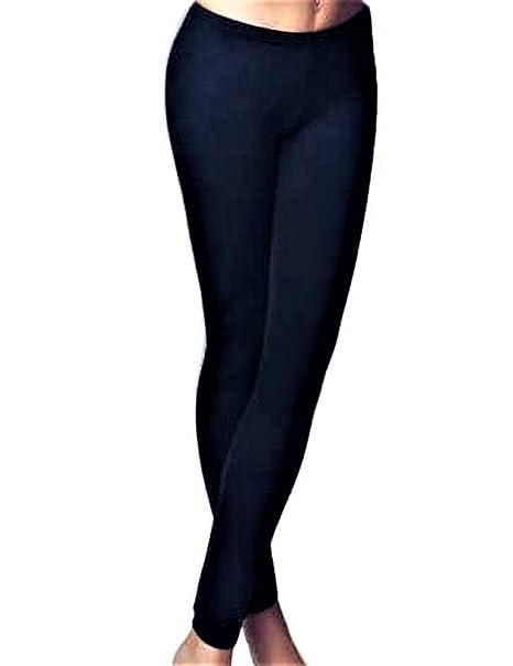 76fa4d20139a JADEA LEGGINGS PANTACOLLANT DONNA ARTICOLO WINTER IN COTONE FELPATO -  Effetto termico, confortevole e caldo. Disponibile nei colori Nero e Blu:  Amazon.it: ...