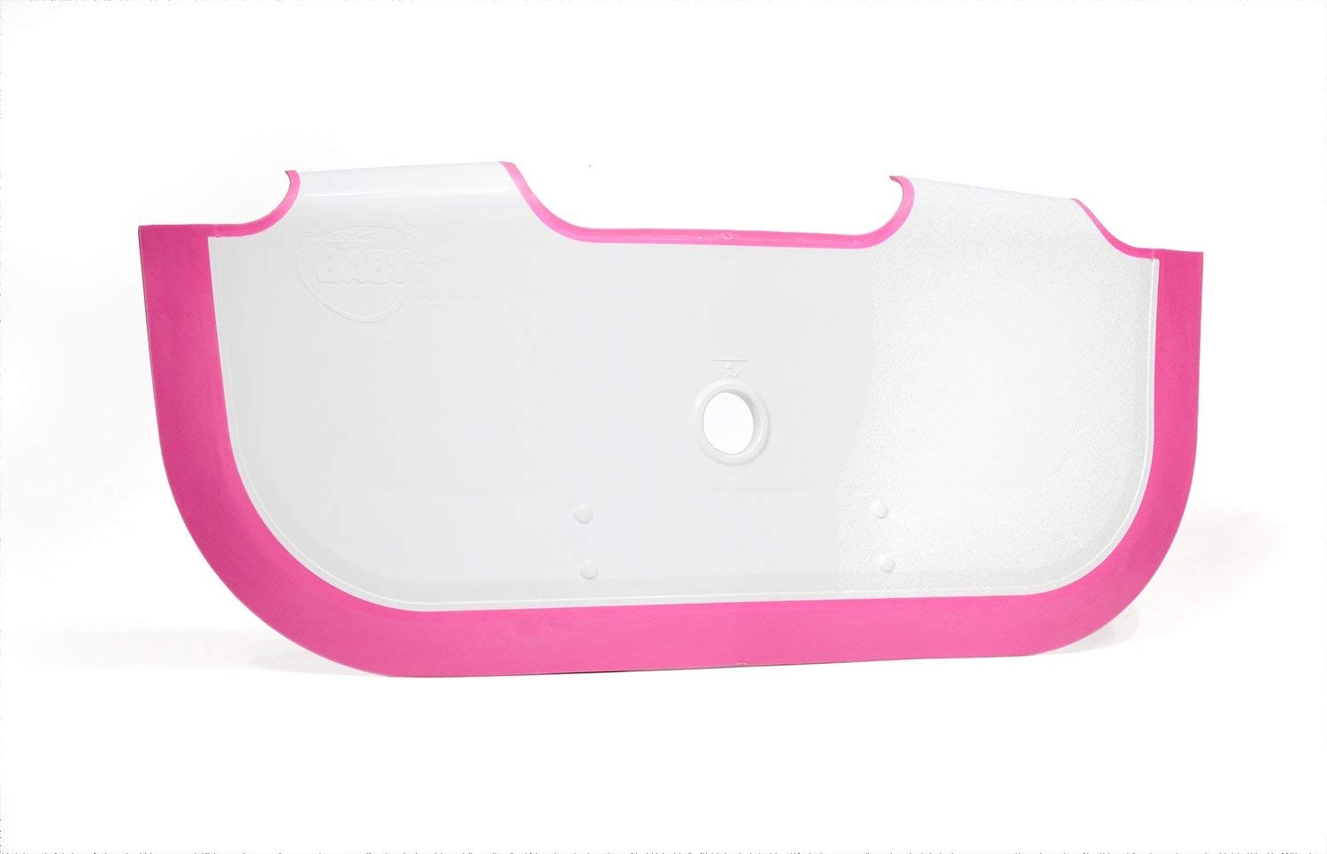 ** NEW ** BabyDam Bathwater Barrier | Baby Bath Tub | Converts A Standard Bath To A Baby Bath (White|Pink) v9103
