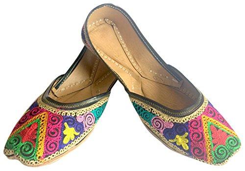 Khussa jutti Punjabi mukti Ballet Style plano n trabajo Thread Zapatos étnico mujeres Step n0CRTaSqq