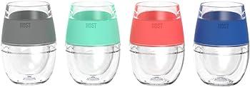 4-Pcs. True Fabrication Host Wine Freeze Cooling Cups