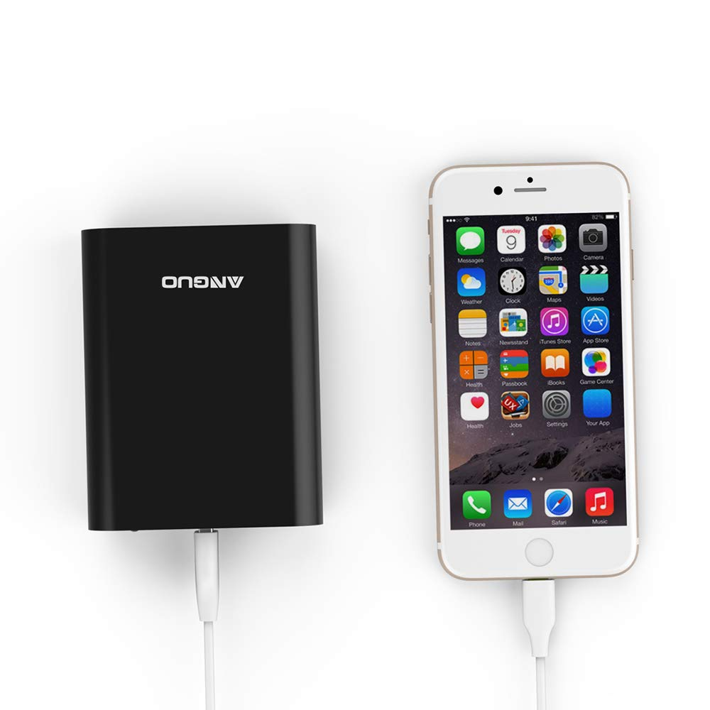 Portable Charger Power Bank 10000mAh Battery Packs-Ultra High Capacity 3-Port Anguo Portable Battery Charger for iPhone, iPad & Other Smart Devices(Black)