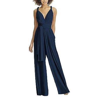 900273ee81e4 Lover-Beauty Damen Jumpsuit Sommer Overall mit Gurt Elegant Romper Lang  Hosen Overall Playsuit Party Abendmode  Amazon.de  Bekleidung