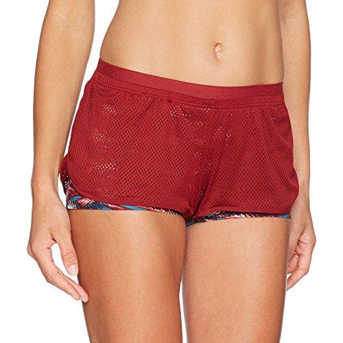 TriAction the Fit-s Sho01, Pantalones Cortos Para Mujer Multicolor (Red - Dark Combination R9)