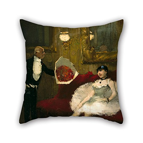Artistdecor Pillowcover Of Oil Painting Jean-Louis Forain - The Admirer 16 X 16 Inches / 40 By 40 Cm,best Fit For Bar,boys,drawing Room,study Room,lounge,lover Both Sides ()