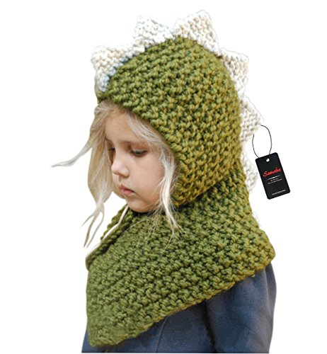 Sumolux Baby Kids Winter Warm Dinosaur Knitted Hats for 3-10T (Reindeer Baby Costume)