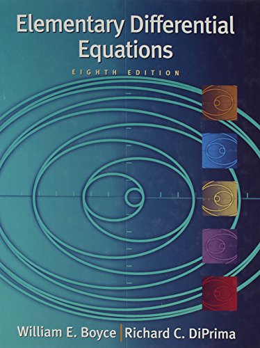 Elementary Differential Equations 8th Edition with Differential Equations Matlab 2nd Edition Set