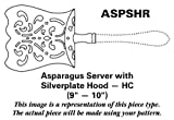 Gourmet Settings Twist (Stainless) Asparagus Server with Silverplate Hood HC
