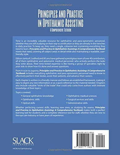 Principles and Practice in Ophthalmic Assisting: A Comprehensive Textbook - http://medicalbooks.filipinodoctors.org