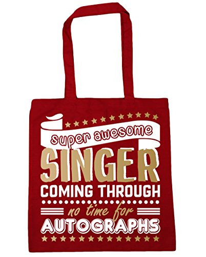 Time 10 Super Shopping Bag litres Autographs No 42cm Red Tote Singer Awesome HippoWarehouse Classic x38cm Through For Coming Beach Gym FYnqa4x4