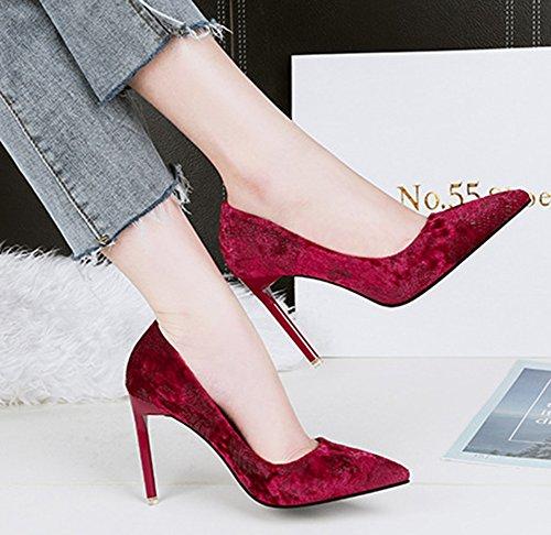 Chaussures à talon aiguille rouges Sexy femme fdln7