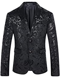 "<span class=""a-offscreen"">[Sponsored]</span>Cloud Style Men's Dress Floral Suit Notched Lapel Slim Fit Stylish Blazer"