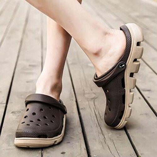 Piedi da Scarpe Sandali Set Brown da E Spesse Antiscivolo Pantofole di Estivi Spiaggia E Uomo E Pantofole XxqtqHUw