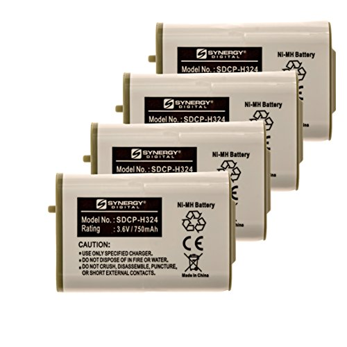 at&T 80-5808-00-00 Cordless Phone Battery Combo-Pack Includes: 4 x SDCP-H324 - Cordless 00 Battery Phone