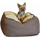 K&H Deluxe Medium Cuddle Cube, Brown Squares, 26-Inch by 26-Inch
