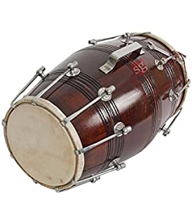 SG Musical Tahli Nut Bolt Dholak With Tunning Spanner Carry Bag