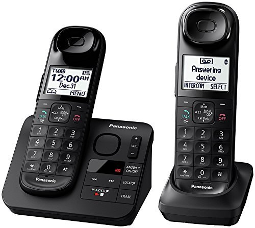 (Panasonic KX-TGL432B Dect 6.0 2-Handset Landline Telephone, Black (Renewed))