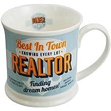 """Diner Mugs 195000183 """"Real Estate"""" Mug, Pale Blue"""