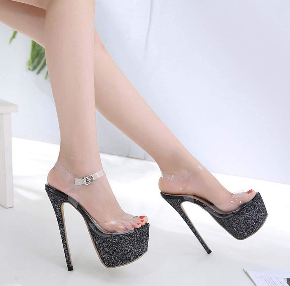 4c9c27d4b3714 Amazon.com: GHFJDO Pleaser Heels,Ankle-Strap Platform Sandal Women's ...