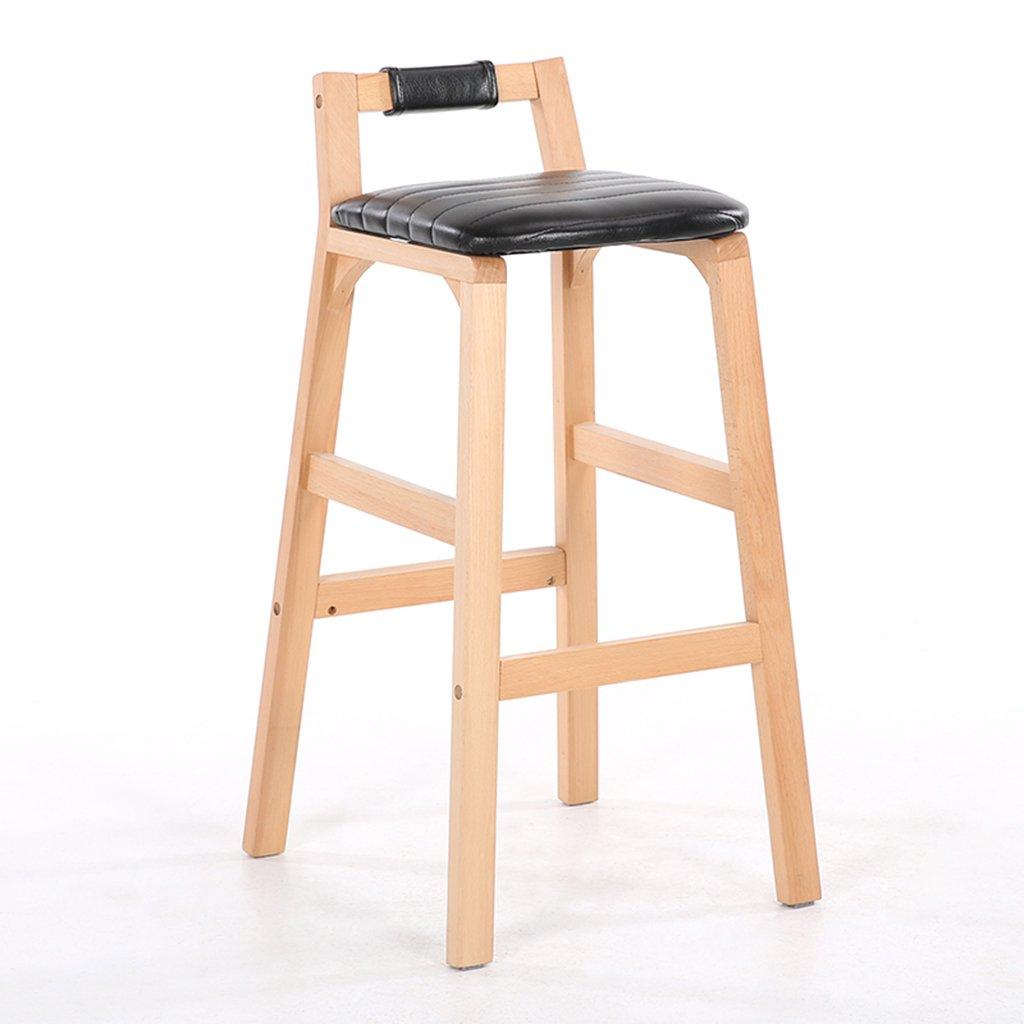 IAIZI ヨーロッパのバーの椅子ソリッドウッドバーのスツールハイスツールクリエイティブハイチェアホームバーのスツールバックバーの椅子 (色 : B) B07F6JHF5S B B
