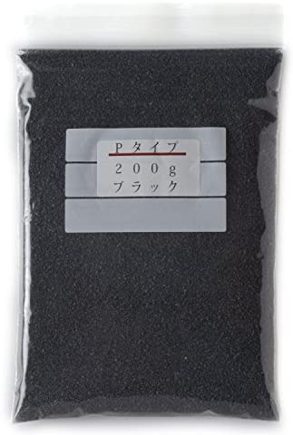 カラーサンド 各200g ライトブルー×ライトグリーン×ホワイト※鉛白色×ブラック×タンの5色セット 中粗粒(0.2~0.8mm程度の粒) Pタイプ #日本製