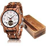 Mens Wooden Mechanical Watches Multifunction...