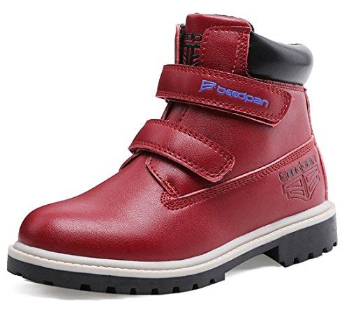 Hoxekle Waterproof Kids Winter Boots TPR Anti-slip Sole V...