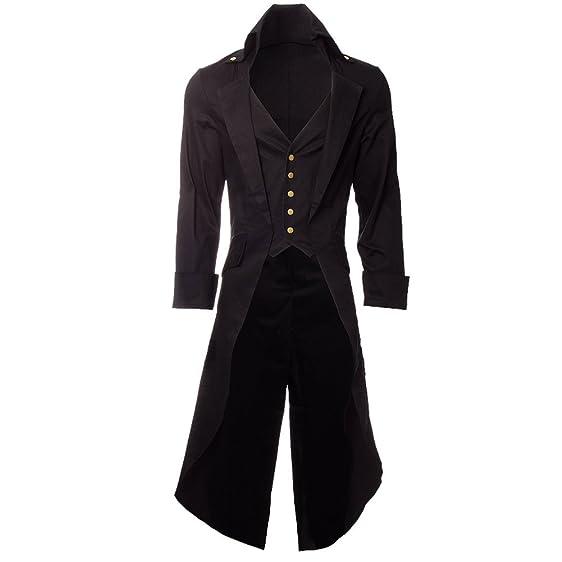 Steampunk Men's Grim Long Coat at Amazon Men's Clothing store:
