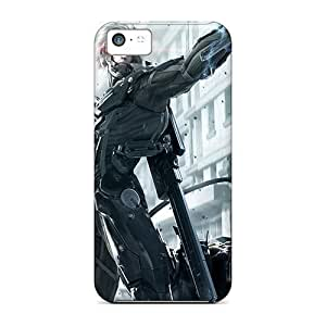 High Grade LastMemory Flexible pc hard Case For Iphone 5c - Metal Gear Rising Revengeance Raiden