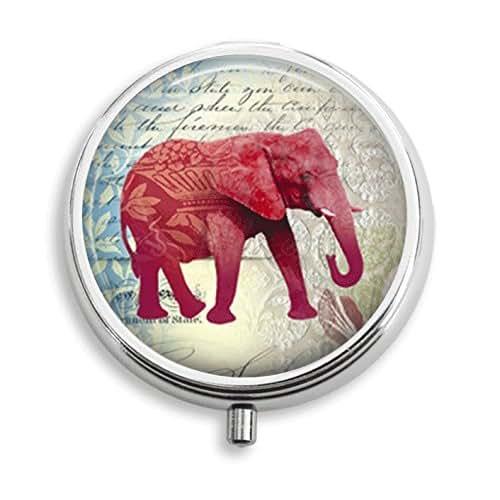 Amazon Small Decorative Boxes: Amazon.com: Red Elephant Pill Box Pill Holder Pill Case