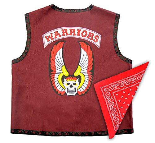 Warriors Movie Costume (The Warriors Gang Costume Leather Vest Jacket and Bandana (Adult XX-Large))