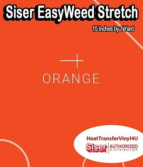 "SISER EASYWEED HTV Heat Transfer Vinyl 15/"" x 1 and 15/"" x 3 Yards 15/"" x 5 yards"