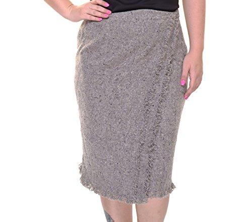 (LAUREN RALPH LAUREN Women's Fringed Wool-Blend Skirt Size 6)