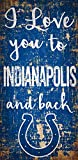 Fan Creations NFL Indianapolis Colts Indinapolis Colts I Love You to Signindinapolis Colts I Love You to Sign, Team, One Sizes