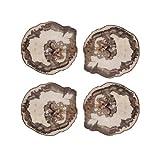 Kim Seybert Petrified Wood Coasters, Set of 4