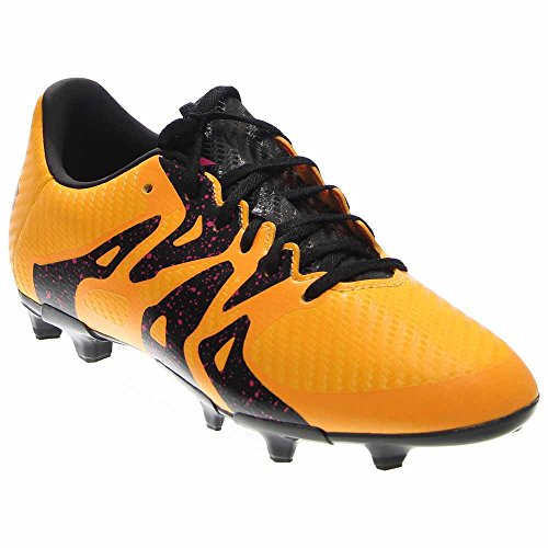 Price comparison product image adidas Performance X 15.3 FGAG J Soccer Shoe (Little Kid/Big Kid),Gold/Black/Shock Pink,3.5 M US Big Kid