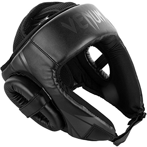 Venum Challenger Open Face Headgear - Black/Black, One Size