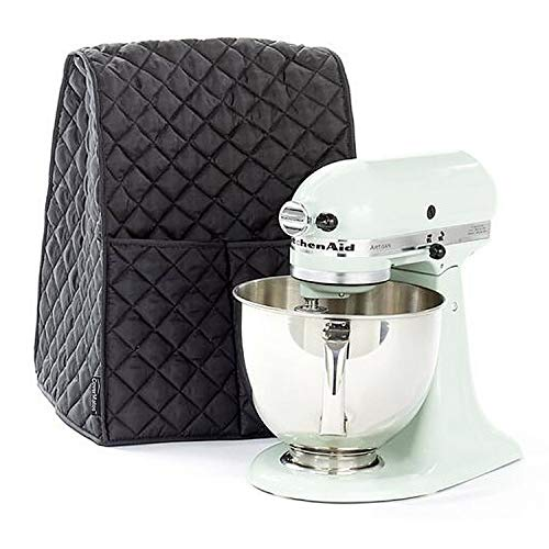 Stand Mixer Dust-proof Cover with Organizer Bag for KitchenAid Mixer to Keep Clean and Safe(Black)