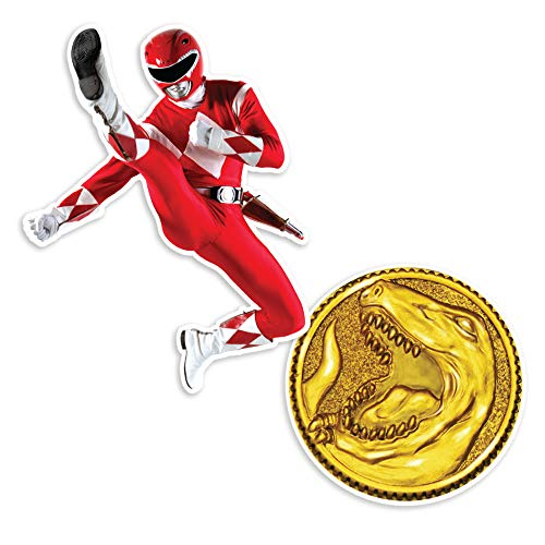 Popfunk Power Rangers Red Ranger and Coin Collectible Stickers