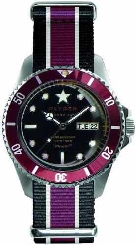 Oxygen EX-DV-BOR-41-BLIVPL - Reloj analógico de Cuarzo Unisex, Correa de Nailon Multicolor (Agujas luminiscentes)